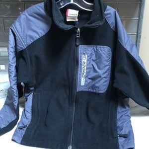 Boys Spyder fleece jacket black & Gray size Large